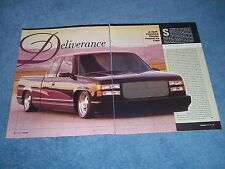 "1994 GMC Sierra Extended Cab Custom Pickup Truck Article ""Deliverance"""