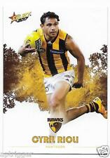 2017 Select Footy Stars Common Card (123) Cyril RIOLI Hawthorn
