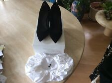 Maison margiela mm6, zapatos de salón con cut-outs, negro, tamaño it 37