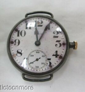 ANTIQUE WWI ELGIN MILITARY TRENCH TRANSITIONAL POCKET WRIST WATCH