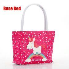 Girl Women Unicorn Handbag PU Leather Shoulder Bags Totes Cosmetics Storage Bag