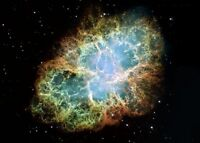 "Crab Nebula Hubble Telescope Space CANVAS ART PRINT 24""X18"" poster"