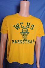 Vintage '80s Wilkes Central HS Basketball soft broken in gold t shirt M/L