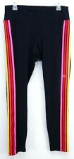New Express Womens Sexy Stretch High Waisted Rainbow Stripe Ankle Leggings L