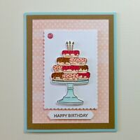 BIRTHDAY Handmade Card Kit, Stampin' Up! - BIRTHDAY GOODNESS - Set Of 4