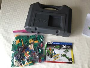 K'Nex Wheel Racers 12310/71332 & Carry Case 202 Pieces,100% with instructions