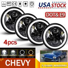 "4pcs 5.75"" 5-3/4 LED Headlights Halo DRL Hi/Lo Beam For Chevy Bel Air 1962-1975"