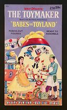 """""""The Toymaker-Babes In Toyland� 1961 Golden Uncut Paper Dolls Vintage"""