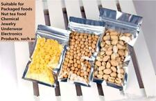 Silver Pure Aluminum Mylar Foil Zip Lock Bags Resealable Food Pouches Packaging