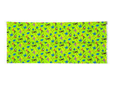 """2008 Beatles Cotton Fabric Green Psychedelic Yellow Submarine 18.25"""" x 44.5"""""""