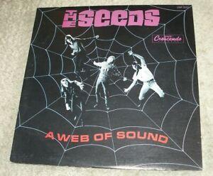 "The SEEDS 1966 GNP Crescendo MONO LP ""A Web Of Sound"" Sky Saxon cLEAn PsYcH"