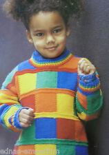 KNIT & CROCHET PATTERNS for a CHILD'S JUMPER * 8 ply DK yarn * 52-65 cm, 1-6 yr
