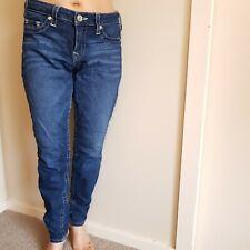 Blue TRUE RELIGION womens stylish slim jeans denim size 31 excellent condition