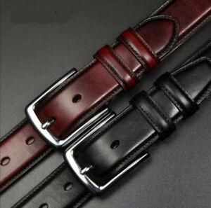 Mens 35mm Full Hide Real Leather Belt for Jeans and Trouser Size 28'' to 62''