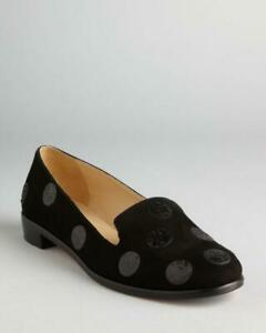 Kate Spade New York Carissa Black Suede Polka Dot Shoes 10 $248.00 NEW IN BOX