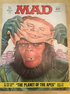MAD MAGAZINE-MARCH 1973- PLANET OF THE APES- CLASSIC!