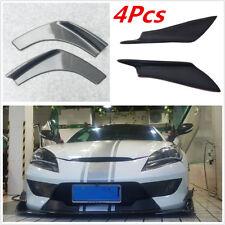 2Pcs Carbon Fiber Front Bumper Splitter Spoiler Canards+2Pcs Car Bumper Splitter