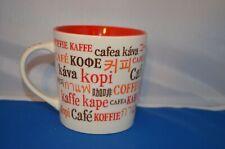 16oz Starbucks Ceramic International Coffee Word Mug 2008 Multi Language