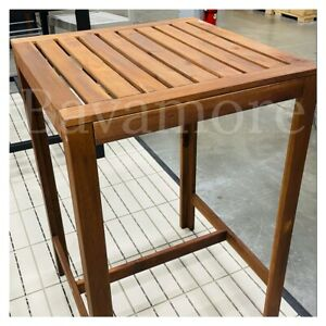IKEA ÄPPLARÖ Bar table, outdoor, brown stained SOLID WOOD