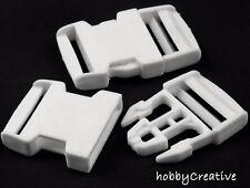 1) Steckschnalle 35 mm Weiss Steckverschluss Gurtschnalle Rucksack Tasche Hose