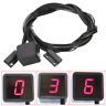 Motorcycle Motorbike Red LED Digital Gear Indicator Shift Lever Sensor Display