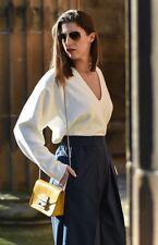 Hermes Designer Lemaire for Uniqlo MILANO RIB FLARE V NECK SWEATER CREAM SIZE L
