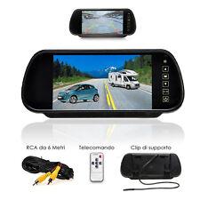 """Monitor per auto camper kit Retromarcia Specchietto retrovisore 7"""" LCD con AV2"""