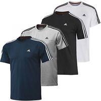 New adidas Mens Essentials 3-Stripes Crew Neck T-Shirt