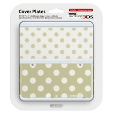 New Nintendo 3DS Cover Plate No.013 Gold and White Polka Dot NEW & SEALED!