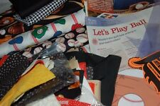 LETS PLAY BALL UNFINISHED QUILT KIT SEWING PROJECT 5 YDS FABRIC PATTERN SQUARES