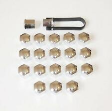 x20 Chrome Push-on Wheel Nut / Bolt Head Covers Caps 19mm Hex