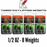 Tungsten Flipping Weights Blood Red Heavy Lot 3//4 1 2 oz You Get All! 1-1//2
