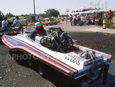 DRAG RACING DRAG BOAT PHOTO TOP FUEL HYDRO DEXTER TUTTLE NITRO EXPRESS 1985