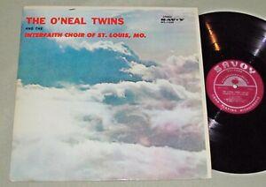 THE O'NEAL TWINS & Interfaith Choir Of St. Louis MO Deep River LP Savoy MG-14268