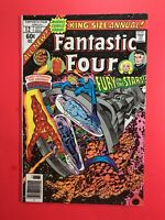FANTASTIC FOUR ANNUAL #12 FURY IN THE STARS -THE INHUMANS  Marvel 1977 Good