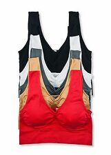 Womens Crop Bustier Sports Bra Fashion Tank Top Sleeveless Casual Tops Plus Size