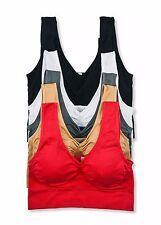 Womens Crop Bustier Sports Bra Fashion Tank Top Sleeveless Casual Tops Plus Size