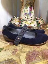 Sundance Navy Mary Jane Suede Loafer Flats, Size 37