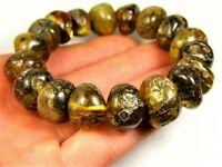 Baltic Amber bracelet 40 gram natural genuine stones women's unique jewelry 816a