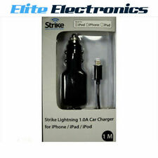 STRIKE IPHONE 5 CAR CHARGER 1 AMP LIGHTING CONNECTOR CIGARETTE
