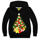 POKEMON PIKACHU enfant garçons Pull Noël manches longues sweat à capuche T-shirt