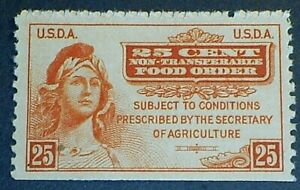 USDA 1939 Food Order Stamp F-VF MNHOG