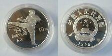1995 China Large Silver Proof 10 Yuan- Olympic Taekwondo