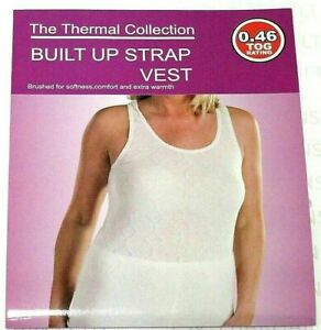 Ladies Womens Girls Thermal Winter Built Up Strap Vest Top .46 Tog Size S To 2XL