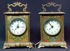 1900 MUCHA superbe paire pendules pendulette Art nouveau 17cm clock réveil rare
