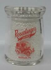 Very Nice Rosenberger's Dairy 3/4 oz. Glass Creamer Bottle Hatfield, Pa