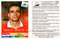 "RARE !! Sticker OVERMARS n°315 ""WORLD CUP FRANCE 98"" Panini 1998"