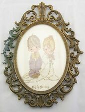 Completed HandMade Counted Cross Stitch Precious Moments Wedding This is the Day