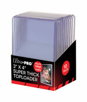 (10) Ultra Pro 180pt SUPER THICK 3 x 4 Toploader 1 Pack Brand New 3x4 Top Load