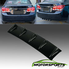 "Gloss Black 23"" x 6""  5 Shark Fin Wing Universal Rear Bumper Lip Diffuser"